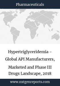 Hypertriglyceridemia - Global API Manufacturers, Marketed and Phase III Drugs Landscape, 2018