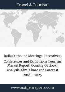 India Outbound Meetings, Incentives, Conferences and Exhibitions Tourism Market Report: Country Outlook, Analysis, Size, Share and Forecast 2018 – 2025