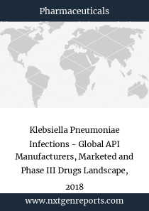Klebsiella Pneumoniae Infections - Global API Manufacturers, Marketed and Phase III Drugs Landscape, 2018