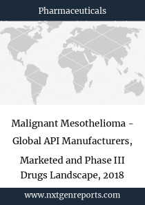Malignant Mesothelioma - Global API Manufacturers, Marketed and Phase III Drugs Landscape, 2018