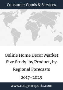 Online Home Decor Market Size Study, by Product, by Regional Forecasts 2017-2025