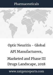 Optic Neuritis - Global API Manufacturers, Marketed and Phase III Drugs Landscape, 2018