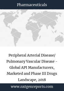 Peripheral Arterial Disease/ Pulmonary Vascular Disease - Global API Manufacturers, Marketed and Phase III Drugs Landscape, 2018