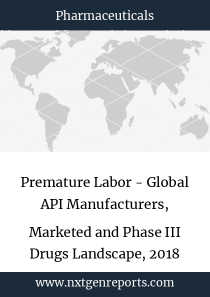 Premature Labor - Global API Manufacturers, Marketed and Phase III Drugs Landscape, 2018