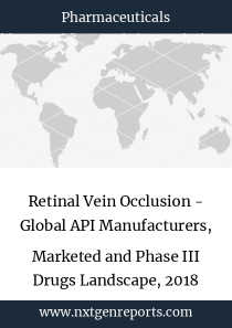 Retinal Vein Occlusion - Global API Manufacturers, Marketed and Phase III Drugs Landscape, 2018