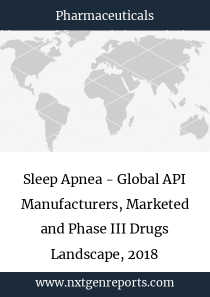 Sleep Apnea - Global API Manufacturers, Marketed and Phase III Drugs Landscape, 2018