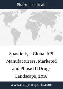 Spasticity - Global API Manufacturers, Marketed and Phase III Drugs Landscape, 2018
