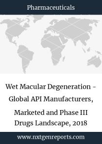 Wet Macular Degeneration - Global API Manufacturers, Marketed and Phase III Drugs Landscape, 2018
