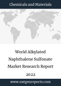 World Alkylated Naphthalene Sulfonate Market Research Report 2022