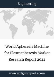 World Apheresis Machine for Plasmapheresis Market Research Report 2022