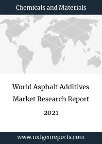 World Asphalt Additives Market Research Report 2021