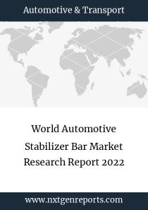 World Automotive Stabilizer Bar Market Research Report 2022