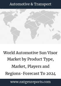 World Automotive Sun Visor Market by Product Type, Market, Players and Regions-Forecast To 2024