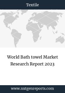 World Bath towel Market Research Report 2023