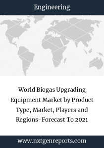 World Biogas Upgrading Equipment Market by Product Type, Market, Players and Regions-Forecast To 2021