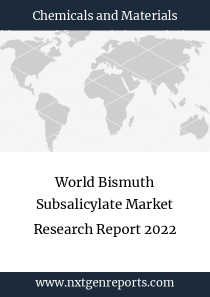 World Bismuth Subsalicylate Market Research Report 2022
