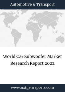 World Car Subwoofer Market Research Report 2022