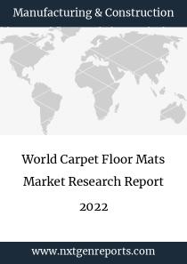 World Carpet Floor Mats Market Research Report 2022