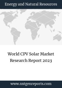 World CPV Solar Market Research Report 2023