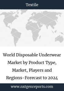 World Disposable Underwear Market by Product Type, Market, Players and Regions-Forecast to 2023