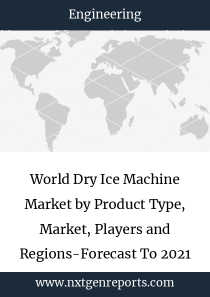 World Dry Ice Machine Market by Product Type, Market, Players and Regions-Forecast To 2021