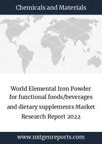 World Elemental Iron Powder for functional foods/beverages and dietary supplements Market Research Report 2022