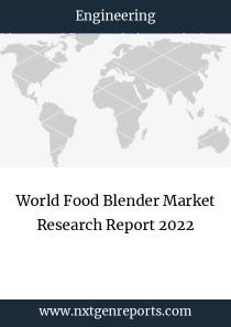 World Food Blender Market Research Report 2022