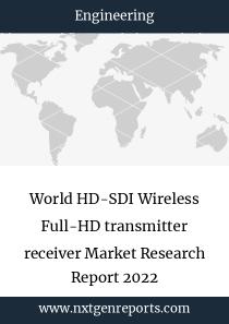 World HD-SDI Wireless Full-HD transmitter receiver Market Research Report 2022