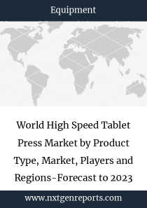 World High Speed Tablet Press Market by Product Type, Market, Players and Regions-Forecast to 2023