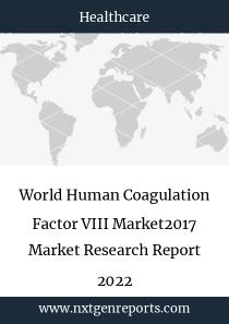 World Human Coagulation Factor VIII Market2017 Market Research Report 2022