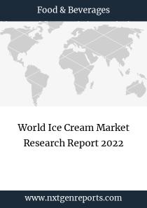World Ice Cream Market Research Report 2022