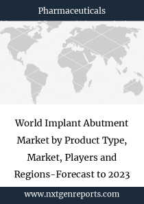 World Implant Abutment Market by Product Type, Market, Players and Regions-Forecast to 2023