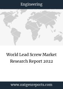 World Lead Screw Market Research Report 2022