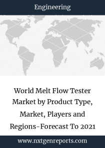 World Melt Flow Tester Market by Product Type, Market, Players and Regions-Forecast To 2021