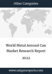 World Metal Aerosol Can Market Research Report 2022