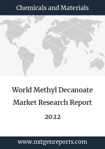 World Methyl Decanoate Market Research Report 2022