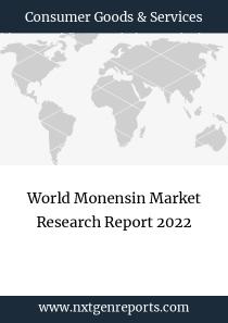 World Monensin Market Research Report 2022