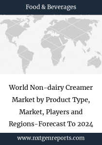 World Non-dairy Creamer Market by Product Type, Market, Players and Regions-Forecast To 2024