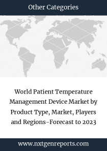 World Patient Temperature Management Device Market by Product Type, Market, Players and Regions-Forecast to 2023