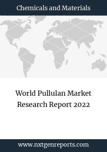 World Pullulan Market Research Report 2022
