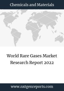 World Rare Gases Market Research Report 2022