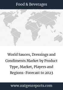 World Sauces, Dressings and Condiments Market by Product Type, Market, Players and Regions-Forecast to 2023