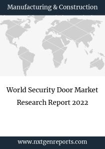World Security Door Market Research Report 2022