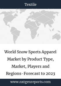 World Snow Sports Apparel Market by Product Type, Market, Players and Regions-Forecast to 2023