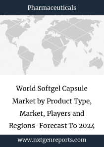 World Softgel Capsule Market by Product Type, Market, Players and Regions-Forecast To 2024