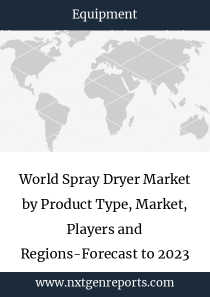 World Spray Dryer Market by Product Type, Market, Players and Regions-Forecast to 2023