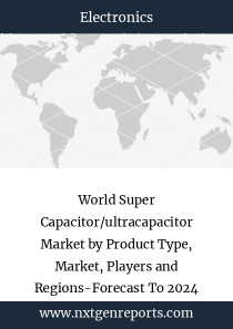 World Super Capacitor/ultracapacitor Market by Product Type, Market, Players and Regions-Forecast To 2024