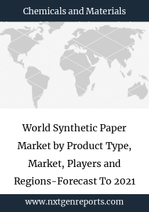 World Synthetic Paper Market by Product Type, Market, Players and Regions-Forecast To 2021