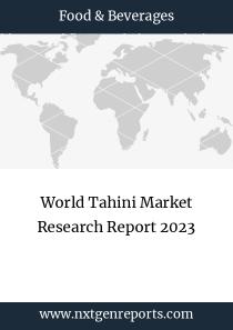 World Tahini Market Research Report 2023