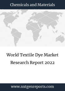 World Textile Dye Market Research Report 2022